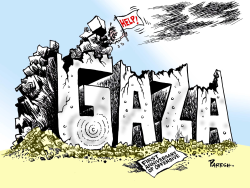 Gaza offensive anniversary by Paresh Nath