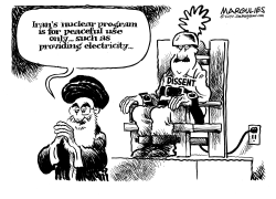 Irans nuclear program by Jimmy Margulies