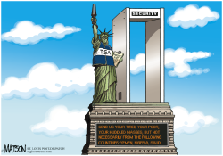 Statue Of Liberty Security Checkpoint- by RJ Matson