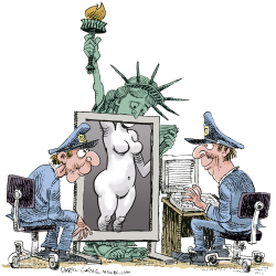 Airport Security and Liberty  by Daryl Cagle