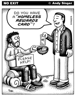 Homeless Rewards Program by Andy Singer