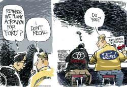 Toyota Ford  by Pat Bagley