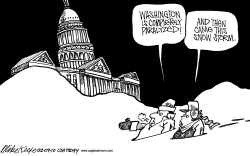 DC Snow Storm  by Mike Keefe