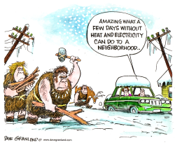 Snowstorms and power outages by Dave Granlund