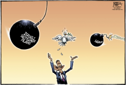 The Israel Peace Dove  by Nate Beeler