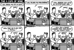Passover wine bw by Steve Greenberg