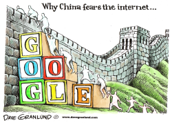 China vs uncensored Google by Dave Granlund