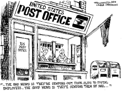 Post Office Pink Slips by Bill Schorr
