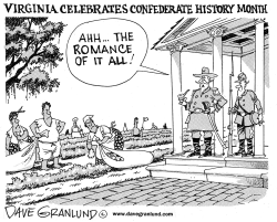 Confederate history month by Dave Granlund