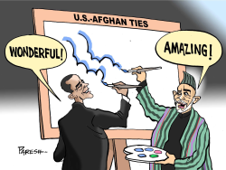US-Afghan ties  by Paresh Nath