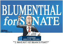 Blumenthal Defends Military Service Record- by RJ Matson