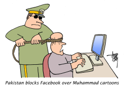 Pakistan blocks Facebook over Muhammad cartoons by Arend Van Dam