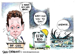 BP CEO Tony Hayward by Dave Granlund