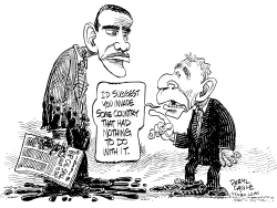 Oil Spill Advice from Bush by Daryl Cagle
