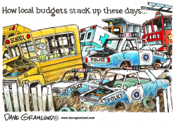 Local budgets and services by Dave Granlund