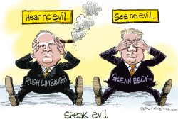 Beck, Limbaugh Speak Evil  by Daryl Cagle