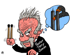 pastor terry jones by Emad Hajjaj