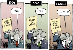 Republican Evolution  by Nate Beeler