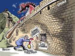 Nobel peace prize for Liu  by Paresh Nath