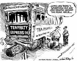 Tea Party Express by Jim Day