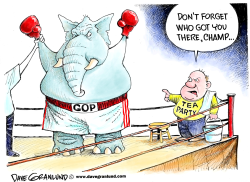 Tea Party and GOP 2010 by Dave Granlund