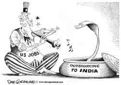 US Jobs and India by Dave Granlund