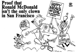 CLOWNS OTHER THAN RONALD, B/W by Randy Bish