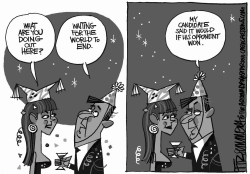 on the eve of 2011 by David Fitzsimmons