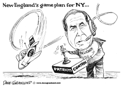 NFL Playoffs NY Jets vs Patriots by Dave Granlund