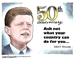 JFK Inauguration 50th by Dave Granlund