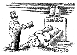 Mubarak and Israel by Jimmy Margulies