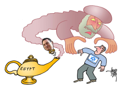 Israel afraid of Egyptian ghost by Arend Van Dam