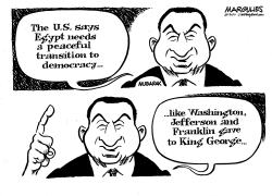 Egypt and Democracy by Jimmy Margulies