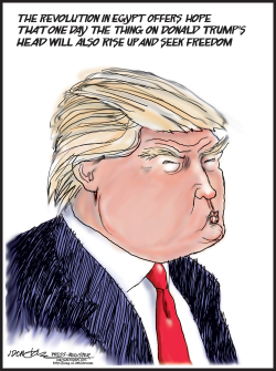 Donald Trump Head by J.D. Crowe