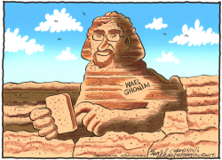 Egyptian Google Hero Wael Ghonim  by Bob Englehart