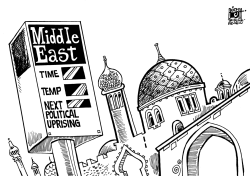 MIDDLE EAST UNREST, B/W by Randy Bish