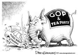 GOP and public worker unions by Dave Granlund