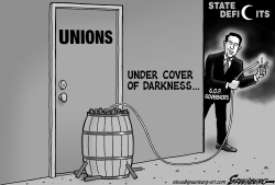 Union Busting bw by Steve Greenberg