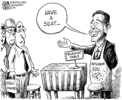 A Seat at the Table by Adam Zyglis