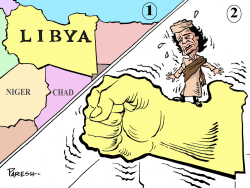 Libya uprising by Paresh nath