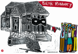Bank Robbery  by Randall Enos