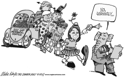 GOP Hopefuls  by Mike Keefe