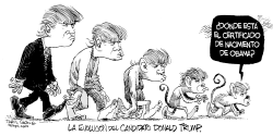 Evolucion de Donald Trump by Daryl Cagle