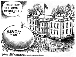 White House Easter egg roll by Dave Granlund