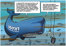 Whale News Network Covers Gulf Oil Spill Anniversary- by RJ Matson