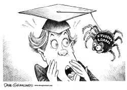 Graduates and student loans by Dave Granlund
