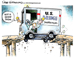US bridges crumbling by Dave Granlund