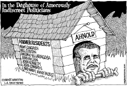 Schwarzenegger in the Doghouse by Wolverton
