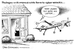Cyber attacks on Pentagon by Dave Granlund