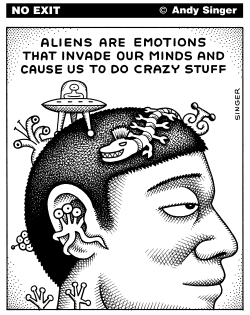 Aliens are Emotions by Andy Singer